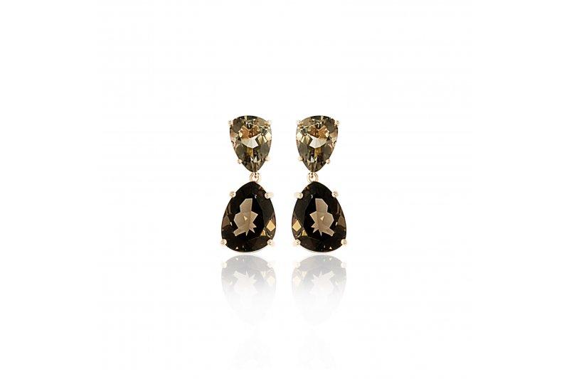 Aurora Smoky Quartz Earrings