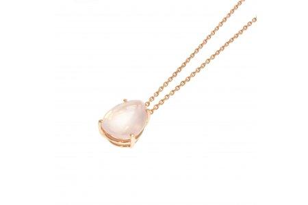 Aurora Rose Quartz Necklace