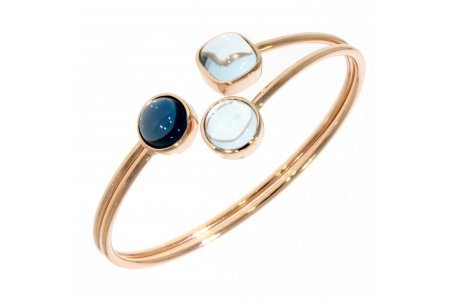 Carry Me Blue Topaz and London Blue Topaz Bangle