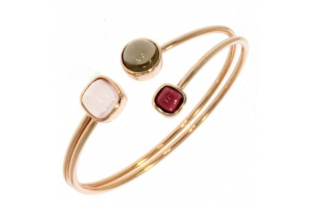 Carry Me Rose Quartz, Smoky Quartz and Garnet Bangle