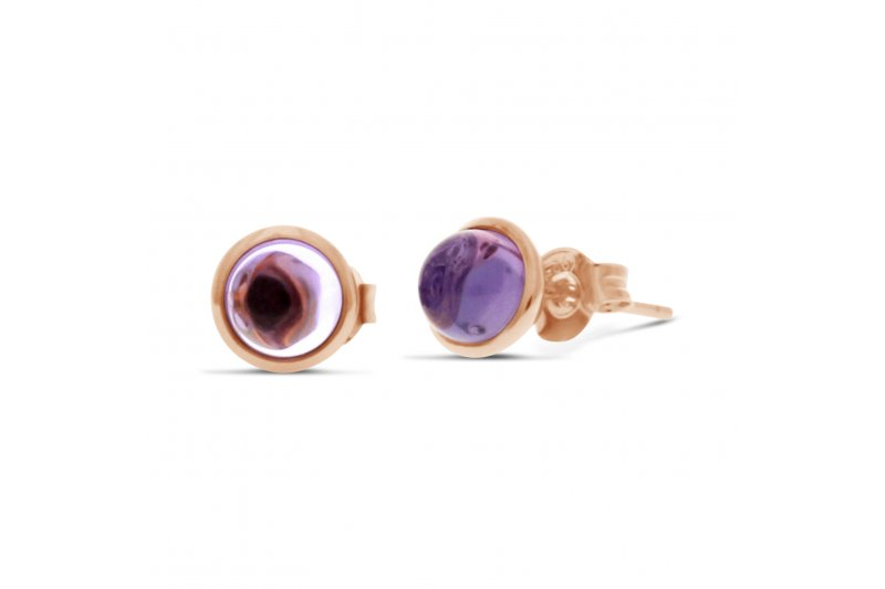Carry Me Amethyst Studs