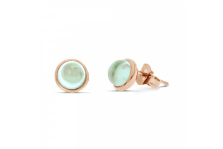 Carry Me Green Amethyst Studs