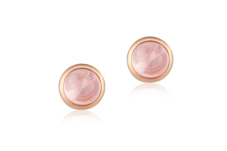 Carry Me 18ct Rose Gold Vermeil Rose Quartz Studs