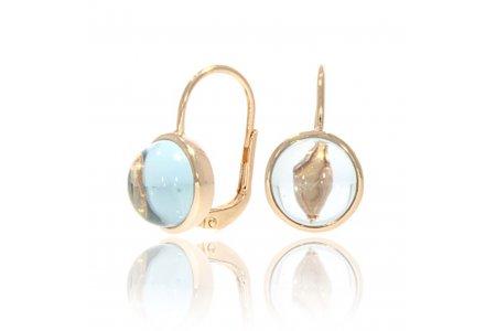 Carry Me Blue Topaz Earrings