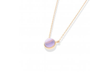 Carry Me Round Amethyst Necklace
