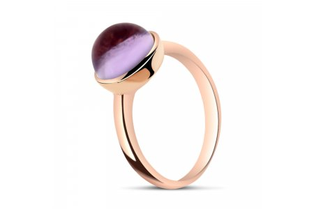 Carry Me Round Amethyst Ring
