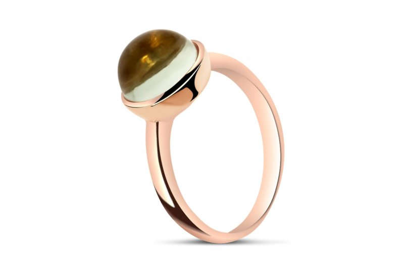 Carry Me 18ct Rose Gold Vermeil Green Amethyst Ring