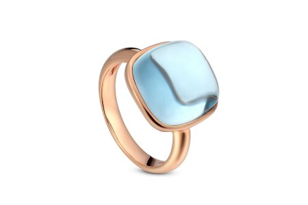 Carry Me 18ct Rose Gold Vermeil Blue Topaz Ring