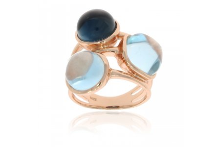 Carry Me Blue Topaz and London Blue Topaz Ring