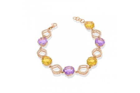 Enchant Amethyst and Citrine Bracelet