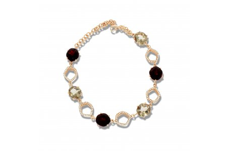 Enchant Smoky Quartz and Garnet Bracelet