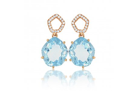 Enchant Blue Topaz Earrings