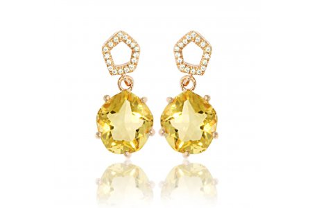 Enchant Citrine Earrings