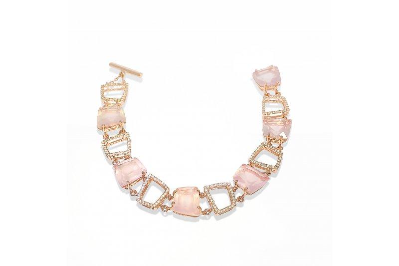 Fancy Rose Quartz Bracelet