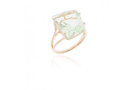 Fancy Green Amethyst Ring