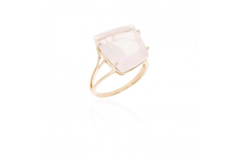 Fancy Rose Quartz Ring