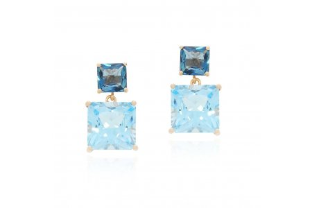 Mystique Blue Topaz and London Blue Topaz Earrings