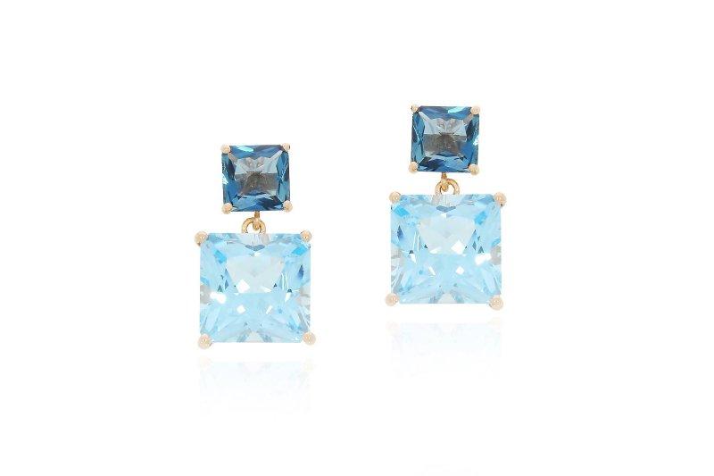 Mystique Blue Topaz and London Blue Topaz Earrings