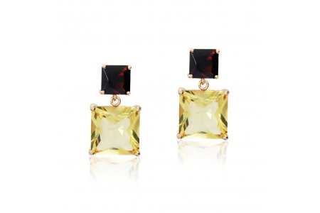 Mystique Citrine and Garnet Earrings
