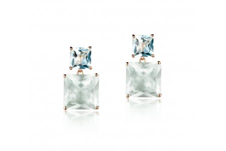 Mystique Green Amethyst and Blue Topaz Earrings