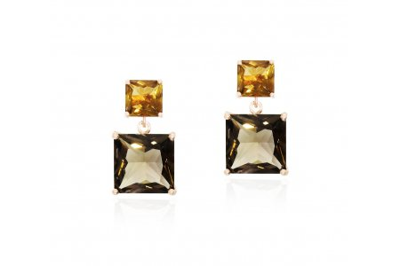 Mystique Smoky Quartz and Whisky Quartz Earrings