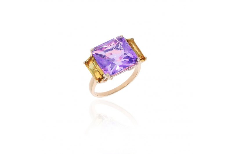 Mystique Amethyst and Citrine Ring